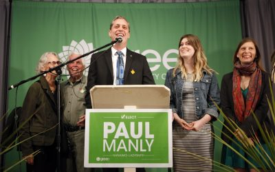 May 7th 2019 – The Green Wave gathers momentum as Paul Manly sweeps to victory in Nanaimo-Ladysmith!