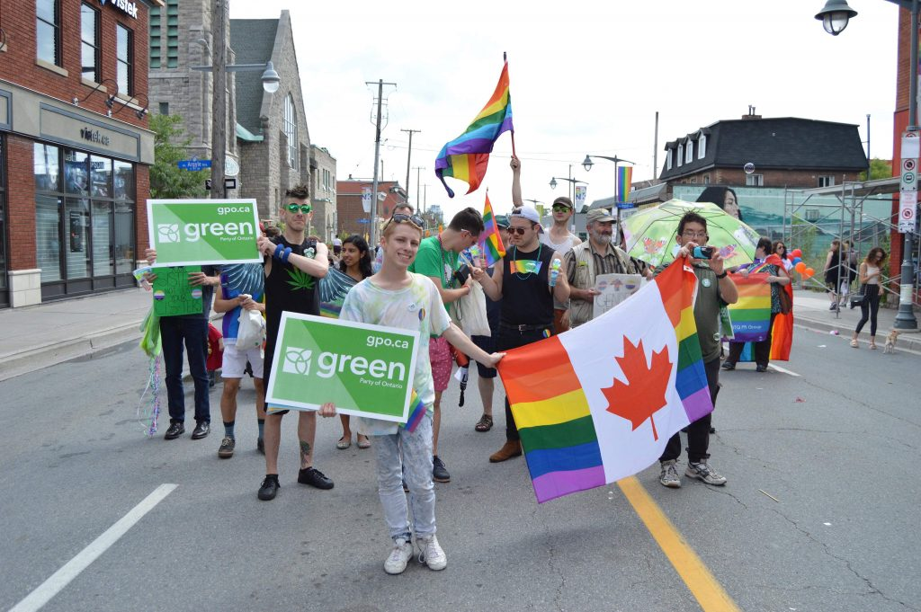 Pride parade with the Green Party 2018